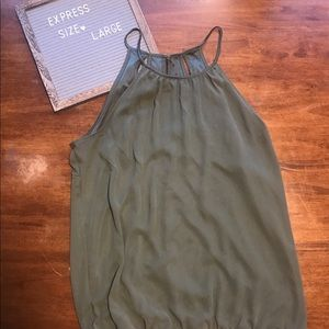 Express Large Green tank with slit back